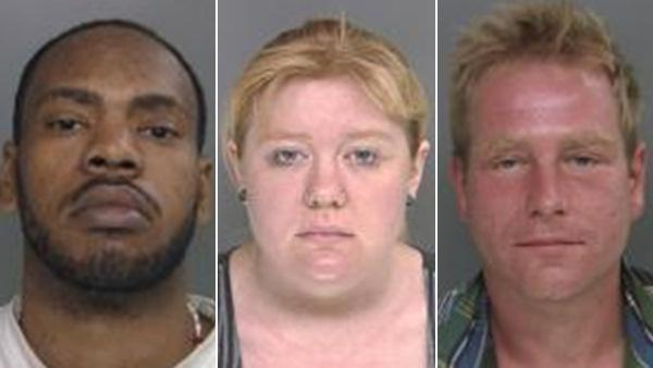 Booking photos of 3 charged in South Philly car vandalism