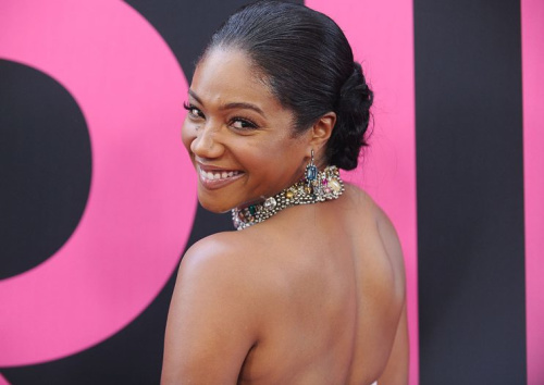 Tiffany Haddish attends the premiere of 'Girls Trip' at Regal LA Live Stadium 14 on July 13, 2017, in Los Angeles.