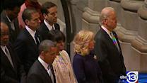 Obamas, Bidens attend Cathedral prayer service