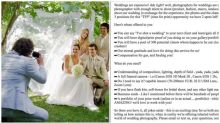 Outrage over couple's wedding photographer ad