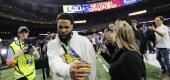Odell Beckham Jr. walks off the field after the College Football Playoff championship game between Clemson and LSU in New Orleans. (AP Photo/Gerald Herbert)