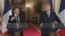 Trump and Macron seek common ground on Syria