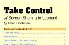Take Control of Back to My Mac / Screen Sharing in Leopard