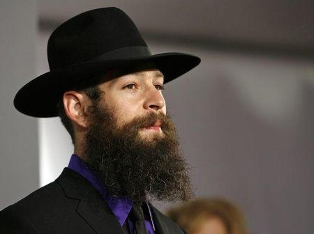 Jewish reggae artist Matisyahu arrives at the 49th Annual Grammy Awards in Los Angeles
