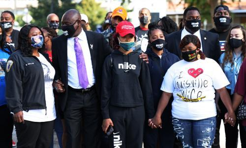 'We are never safe': Breonna Taylor's family condemns Louisville police as protests enter third night