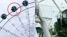 Terrifying moment boy, 5, dangles by his neck from Ferris wheel