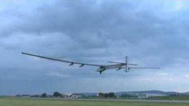 Solar Plane Takes Off for Inaugural Flight