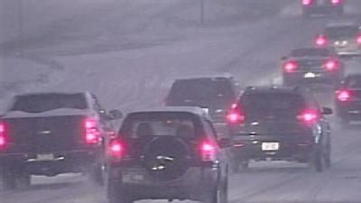 Snow Brings Traffic To A Crawl On Many Area Roads
