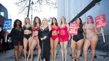 Plus-size models stage protest at London Fashion Week