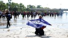 La caravana de migrantes centroamericanos llegó a México