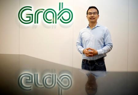 Grab's President Ming Maa poses before an interview with Reuters in Singapore