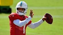 Dolphins QB Tua Tagovailoa shines with best day of practice to date
