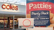 Close call as shopper claims 'little nail' found in Coles party pack
