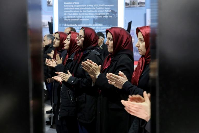 """Founded in 1965 to overthrow the Shah's government and then the Islamic Republic, the PMOI are considered """"terrorists"""" by Tehran (AFP Photo/Gent SHKULLAKU)"""