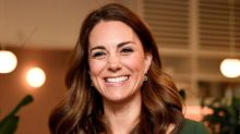 Kate Middleton glows in an emerald dress by Emilia Wickstead