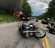 Driver with record charged with 7 homicides in biker crash