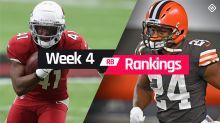 Week 4 Fantasy Football Running Back Rankings