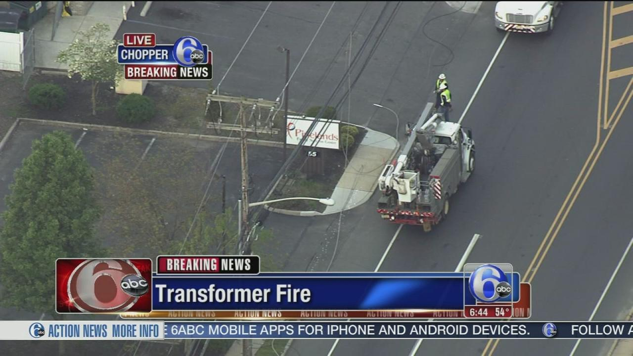 Transformer fire leads to school bus detours in Burlington County, N J