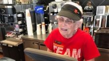Loraine, 94, has been working at McDonald's for 44 years and has no plans to retire