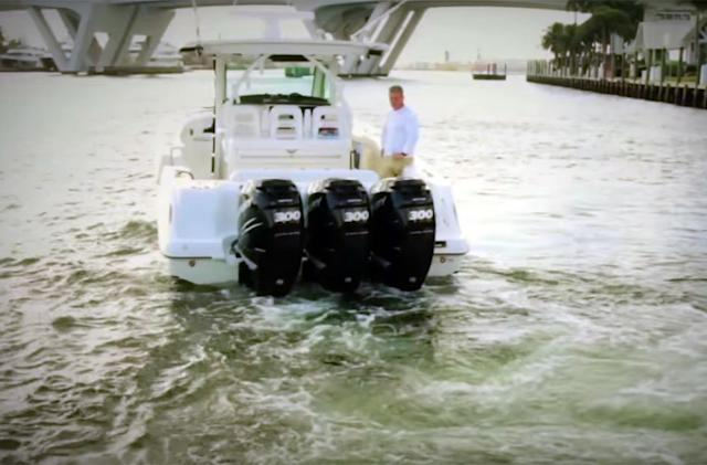 Watch a GPS-assisted boat motor keep ships steady