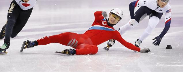 Horror Olympic sportsmanship