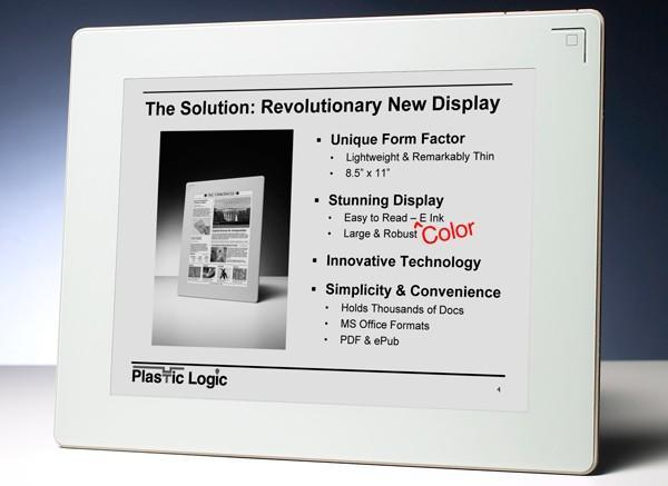 Barnes and Noble 'confirms' color Plastic Logic e-book reader for Spring 2010 (video)
