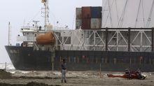 Pakistan plans to refloat ship that ran aground near Karachi