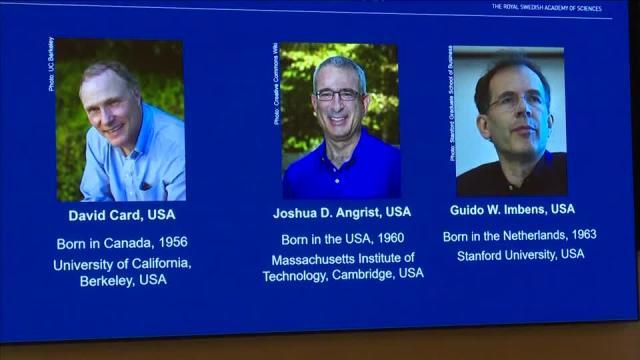 David Card, Joshua D Angrist and Guido W Imbens awarded Nobel Economics  prize 2021