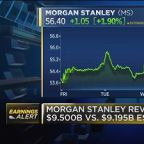 Morgan Stanley beats on both top and bottom lines