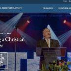 State Department Slammed After Website Gets 'Christian Leader' Makeover