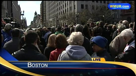 Moment of silence observed to honor Boston bombing victims
