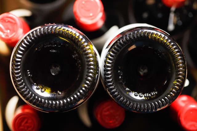 Wine bottle bottoms
