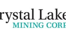 Crystal Lake Mining Closes First Tranche of $1 Million Financing