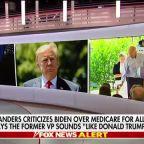 Bernie Sanders and Joe Biden clash over health care
