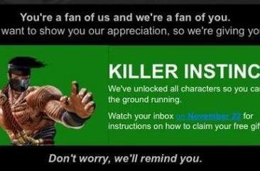 Microsoft gifting complete Killer Instinct roster to select Xbox users