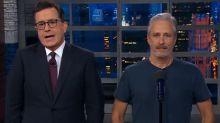 Jon Stewart visits 'Late Show' to defend President Trump but fails splendidly