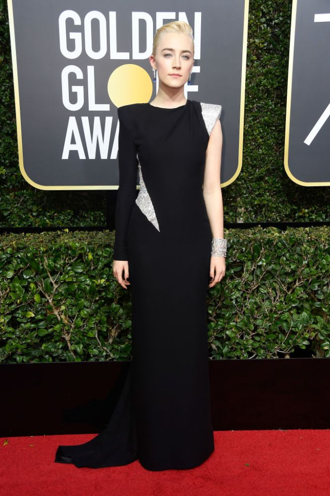 Saoirse Ronan in Atelier Versace at the Golden Globes