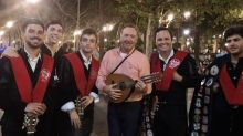 Kevin Spacey Resurfaces in Seville, Sings 'La Bamba,' 'Twist and Shout' with Street Band