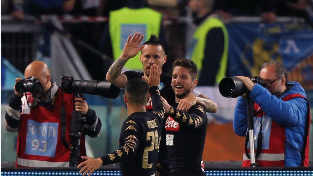 Napoli 3 Udinese 0: Mertens hot-streak continues as Sarri's men close the gap on Roma