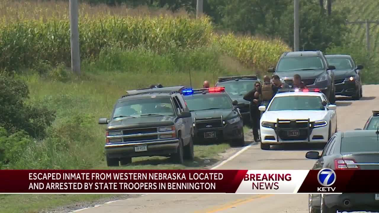 Escaped inmate from Western Nebraska located, arrested by state troopers in  Bennington