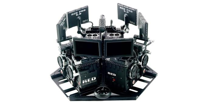'Virtual Reality Camera System' uses 6 Red Dragons to make 360-degree video magic