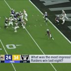 'GMFB' breaks down Raiders' impressive win over Saints