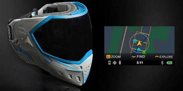 Heads-up displays come to paintball goggles