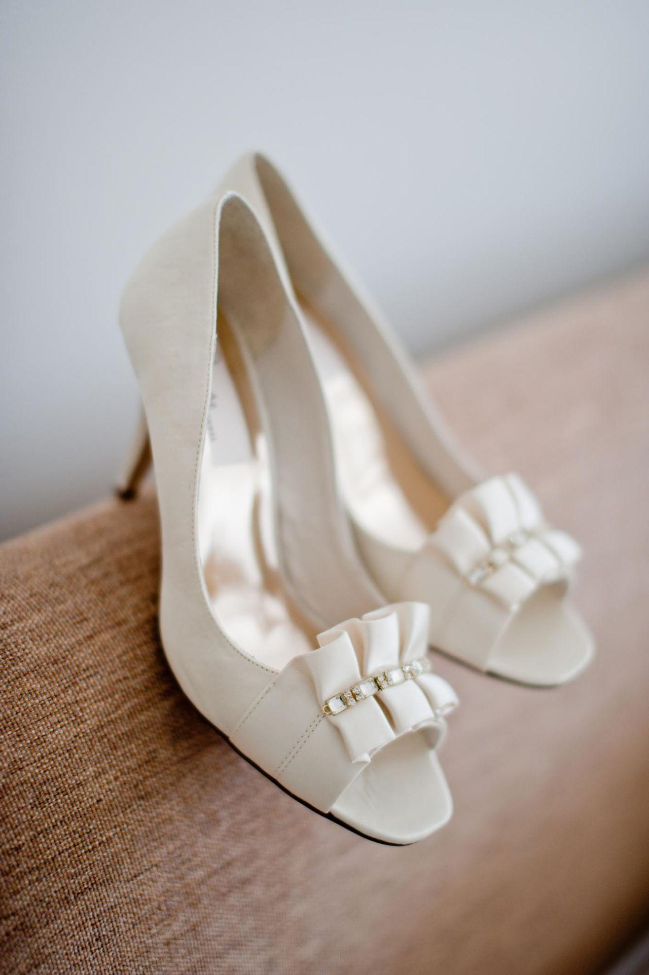 """<p>Listen, your wedding day is like running a marathon, which is why Neusse says proper footwear is essential. """"Bring two pairs of footwear, wear the fancy one for pictures, then switch to comfy ones for walking and other duties,"""" she says. No one can see what you're wearing under your long dress anyway.</p>"""