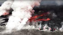 Beunruhigende Helikopter-Bilder: Vulkan Kilauea auf Hawaii wütet weiter