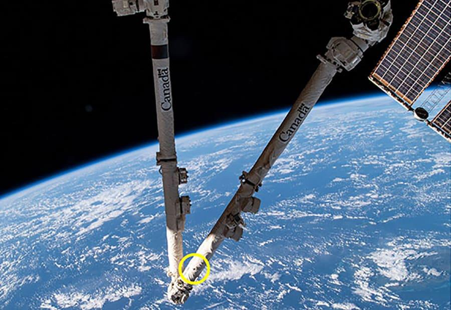 Space junk damages International Space Station's robotic arm – Yahoo News