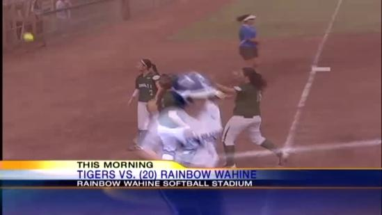 Rainbow Wahine softball team sweeps double-header