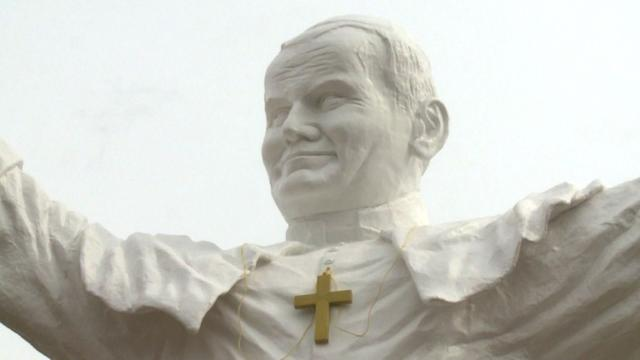 Poland erects statue in honour of John Paul II