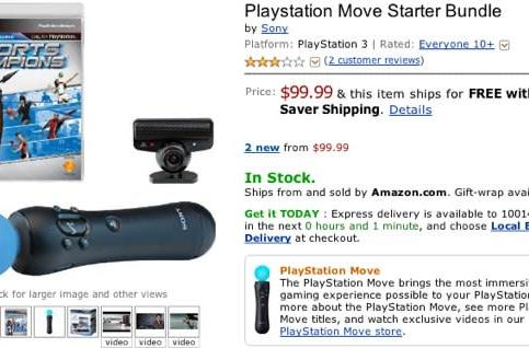 PlayStation Move on sale now at Amazon