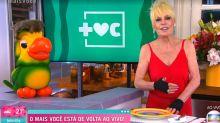 Ana Maria Braga volta para o 'Mais Você' em São Paulo e repete visual de 21 anos atrás